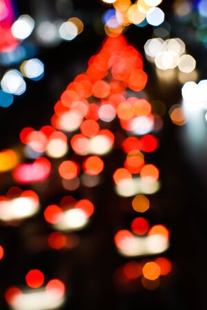 Blur trffic and car lights bokeh in thailand Stock Photo - 17621937