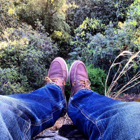 jeans: mans leg