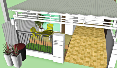 house for Sketchup  Stock Photo