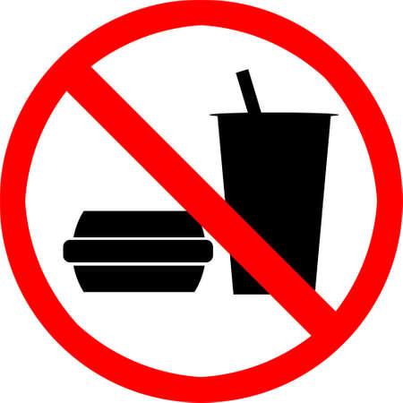 ingestion: No food or drink symbol. Stock Photo
