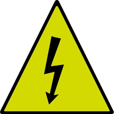 beware: Beware electric shock hazard is dangerous. Stock Photo