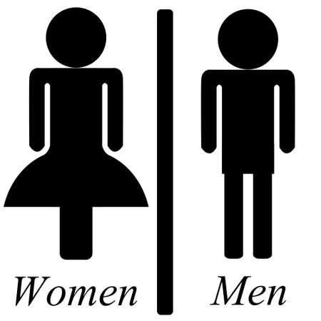 men women: Men & Women toilets lebel.