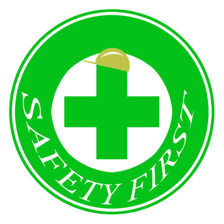 safety first: Safety first symbol for alert bofore accident