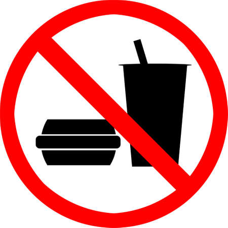 ingestion: No food or drink symbol. Stock Photo