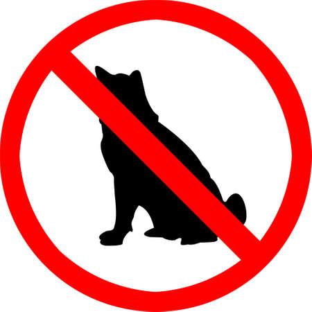 dog allowed: No pet symbol. Stock Photo