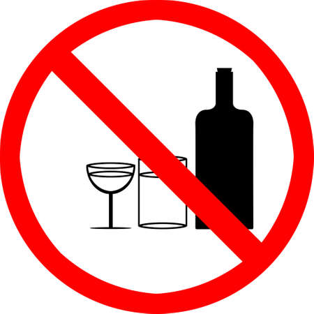 not permitted: No drinking symbol.
