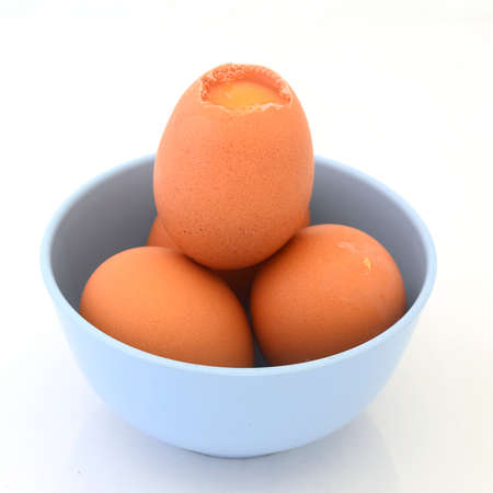 raw material: Eggs in cup.