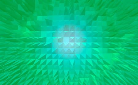 elongated: Green pyramid digital abstract background. Stock Photo