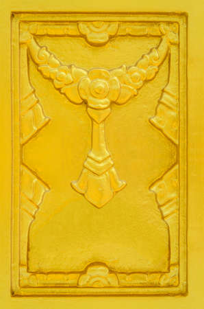 folwer: Golden stucco wall antique folwer thailand