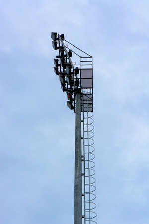 posted: Spotlights posted in the stadium