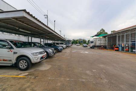 multi story: Car park  at kyoritsu kiden fuji (thailand) company Limited Location Amata Nakorn Industrial Estate. T. Don Hua Loh, Muang Chon Buri, Chon Buri, Thailand, taken on August 25, 2016