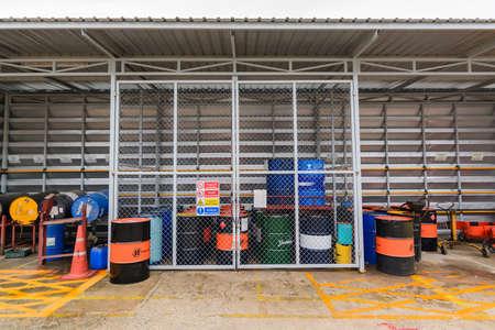 naphtha: store industrial tanks of oil  at kyoritsu kiden fuji (thailand) company Limited Location Amata Nakorn Industrial Estate. T. Don Hua Loh, Muang Chon Buri, Chon Buri, Thailand, taken on August 25, 2016
