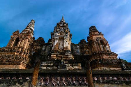 history building: Thailand Sukhothai history building in Sukhothai historical park, the old town of Thailand in 800 year