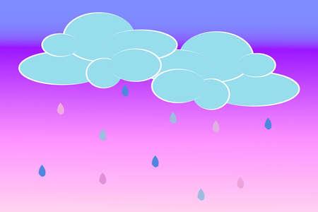 Las nubes y la lluvia Foto de archivo