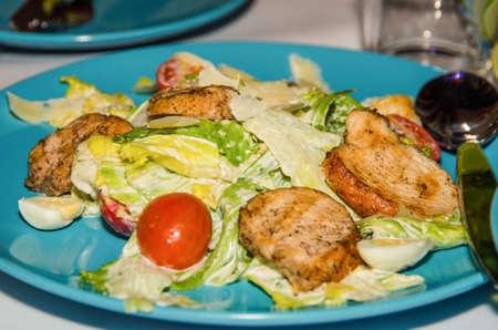 Caesar salad with chicken Banco de Imagens