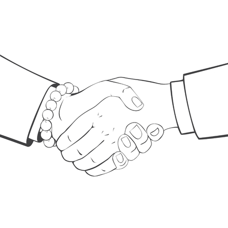 Vector illustration of Business People Shaking Hands.