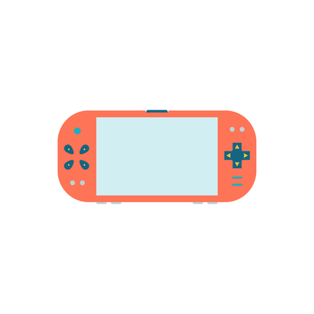handheld device: Game gadget . Handheld game console icon. Vector illustration Isolated on white background. Gamepad flat Icon. Blank screen. Illustration