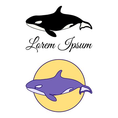 Killer Whale label, emblem or badge design