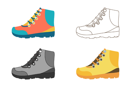 stepping: Hiking boot icons