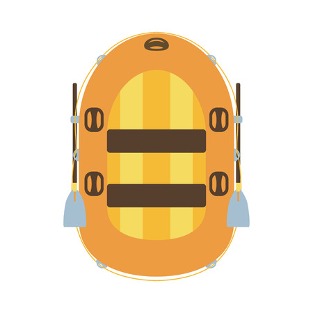 Inflatable boat icon Illustration