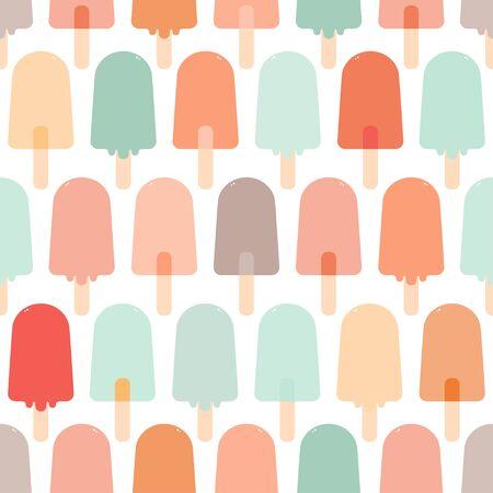 Ice cream seamless pattern. Vector.