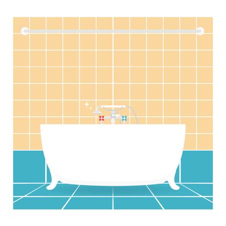 Bathroom interior. Vector.