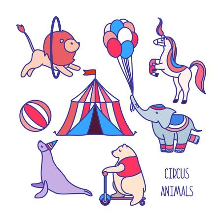 Circus animals. Vector. Illustration