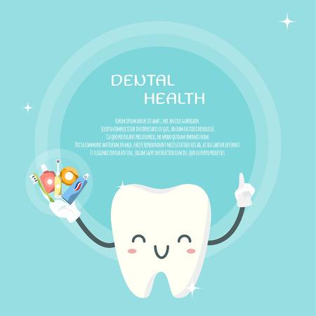 Cute teeth design template.
