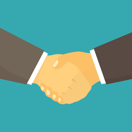 Close-up of Business People Shaking Hands. Illustration