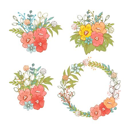 Flower and herbs illustration.