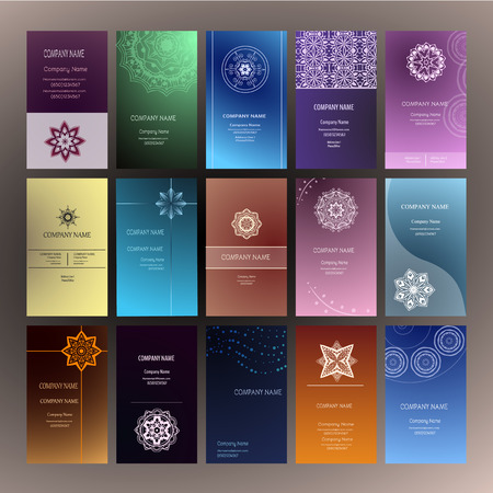 model motive: Set of business card and invitation card templates with lace ornament. Yoga center. Indian, Islam, Arabic, ottoman motifs. Vintage design elements, or save the date hand drawn background.