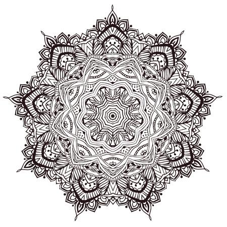 Ornament beautiful card with mandala. Geometric circle element Vector