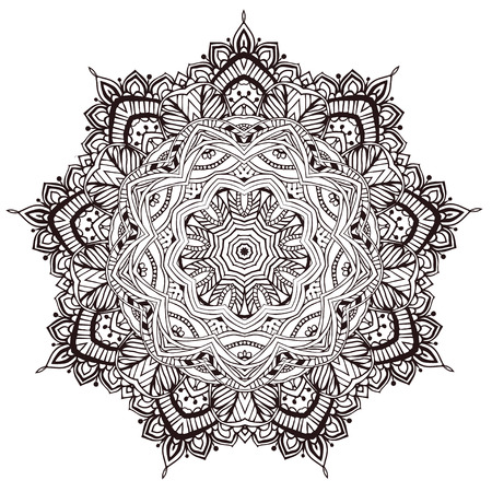 Ornament beautiful card with mandala. Geometric circle element Imagens - 39514053