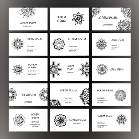 set-visitenkarte und einladung vorlagen mit spitze ornament, Einladung