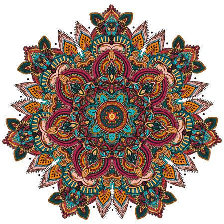 Ornament zwart wit kaart met mandala. Geometrische cirkel element gemaakt in vector. Perfecte kaarten voor enige andere vorm van design, verjaardag en andere vakantie, caleidoscoop, medaillon, yoga, india, arabisch