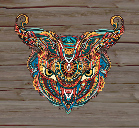 lineage: Mask being object symbol animal plant representation clan tribe, vector illustration. Perfect set for any other kind of design, birthday and other holiday, kaleidoscope,  medallion, yoga, india, arabic