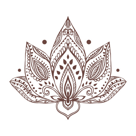 요가와 장식 아름다운 카드. 기하학적 요소 손으로 그린