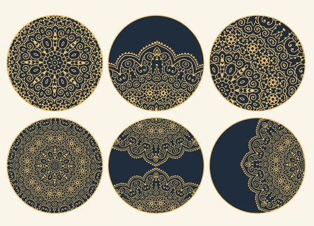 islamic pattern: Hand drawn greeting card ornament illustration concept. Lace pattern design. Vector decorative banner of card or invitation design Vintage traditional, Islam, arabic, indian, ottoman motifs, elements. Illustration