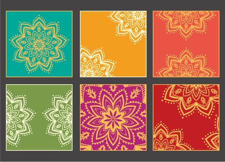 mandala: Hand drawn greeting card ornament illustration concept. Lace pattern design. Vector decorative banner of card or invitation design Vintage traditional, Islam, arabic, indian, ottoman motifs, elements. Illustration