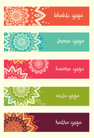 yoga: Hand drawn greeting card ornament illustration concept. Lace pattern design. Vector decorative banner of card or invitation design Vintage traditional, Islam, arabic, indian, ottoman motifs, elements. Illustration