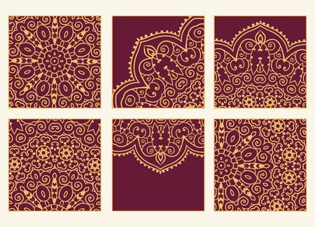 indian yoga: Hand drawn greeting card ornament illustration concept. Lace pattern design. Vector decorative banner of card or invitation design Vintage traditional, Islam, arabic, indian, ottoman motifs, elements. Illustration