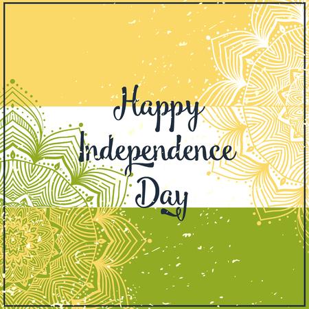 kathak: Ornamental Indian Independence Day with mandala