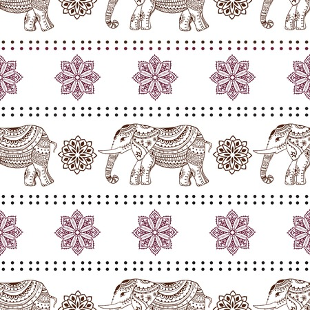 ELEFANTE: Saludo Hermosa tarjeta con elefante Vectores