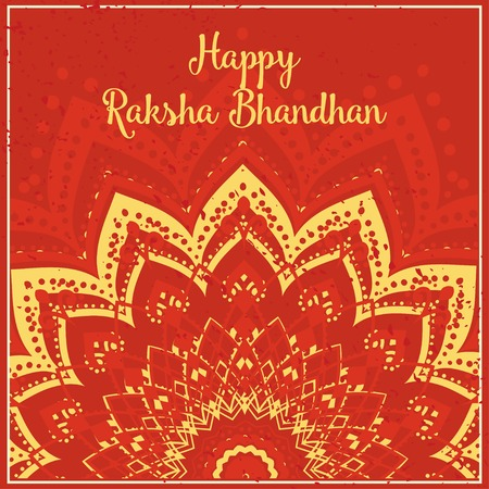 bhai: Raksha Bhandhan invitation cards with lace ornament. Brother and sister festival India. Perfect cards for any other kind of design, birthday and other holiday, kaleidoscope,  medallion, yoga, arabic