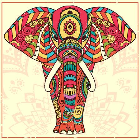 elefant: Grußkarte mit Elephant Schöne