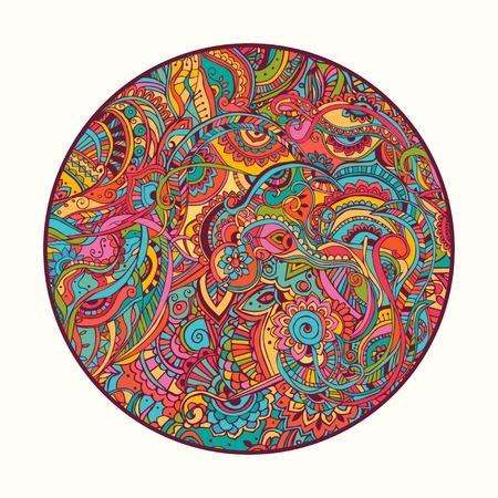 Hippie-Stil. Ornamental Aquarell Hintergrund Vektorgrafik