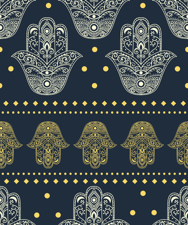 hamsa: Ornament pattern with hamsa Illustration