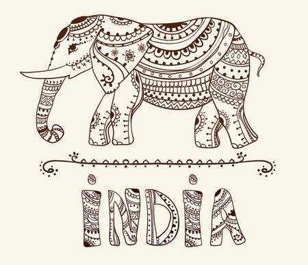 elefant: Gru�karte mit Elephant Sch�ne