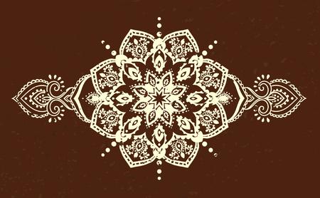 ornament: Ornament beautiful card with mandala