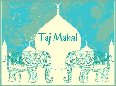 elephant: Greeting Beautiful card with Elephant Illustration